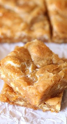 Marshmallow Blondies Well when I get back onto the dessert train, I will be making these immediately!
