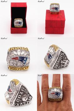 [Visit to Buy] The United States 8 to 15 Patriot Super Bowl 51st World Champion Ring replica and upscale wooden box #Advertisement