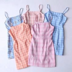 Belted small fresh suspenders bag hip skirt plaid dress from.-Belted small fresh suspenders bag hip skirt plaid dress from FE CLOTHING - Cute Casual Outfits, Girly Outfits, Mode Outfits, Cute Summer Outfits, Retro Outfits, Stylish Outfits, Clueless Outfits, Casual Dresses, Mode Ulzzang