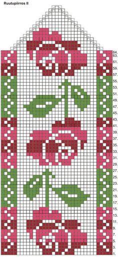 Novita Knitting Charts, Knitting Socks, Knitting Patterns, Embroidery Sampler, Sampler Quilts, Crochet Mittens, Mittens Pattern, Mosaic Patterns, Craft Patterns