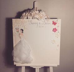 Weddings Memory Board 50x50cm