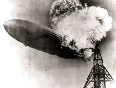 Image Caption: The Zeppelin LZ 129 Hindenburg catching fire on May 1937 at Lakehurst Naval Air Station in New Jersey. Credit: Gus Pasquerella/US Navy Nova Jersey, Wish You Are Here, Led Zeppelin, Vintage Photography, White Photography, Change The World, Album Covers, American History, Rock Bands