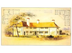 C.F.A. Voysey Postcard: Arts & Crafts - Annesley Lodge in London 1895  | eBay