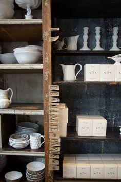 Shopgirl Visits: Astier de Villatte in Paris - words by Holly photos by Jillian http://decor8blog.com/2011/08/09/astier-de-villatte-ceramics-a-deeper-meaning/
