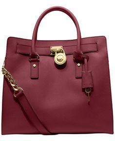 MICHAEL Michael Kors Hamilton Saffiano Leather Tote - Handbags & Accessories - Macy's