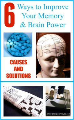 6 Ways How to Improve Your Memory and Brain Power with Causes and Solutions #science #memory #brain jenny at dapper house