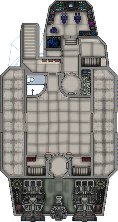 A ship loaned to the party in my star wars RPG game, the IT327 took some damage on the way.