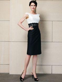 Two Tone Sabrina Neckline Sarah Danielle Mother Of The Bride Dress 5208 Dimitradesigns