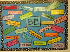 6th grade BE board...on my door?  Have kids choose a word and illustrate it