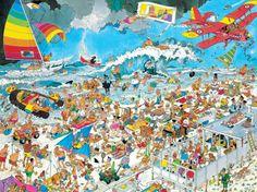 AT THE BEACH No. of pieces: 1500 Size: 90 x 60 cm Artist: Jan van Haasteren
