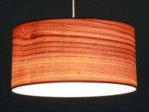 Lampenschirm Kirsche-Echtholz-Furnier, D.40 cm