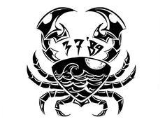 Zodiac Tattoo | Tribal Cancer Zodiac Tattoos