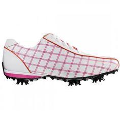 FootJoy 97222 Womens Lopro White/ Raspberry | Smitty's Dot Golf