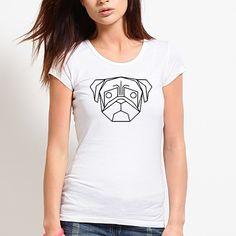Blusa Pug Geometric. Disponível em diversas cores e modelos no nosso site!