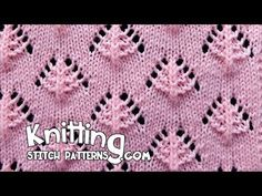 Pine Trees | Lace Knitting Stitch #13 - YouTube