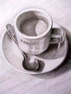 Pencil Drawings Of Flowers, Pencil Sketch Drawing, Pencil Shading, Dark Art Drawings, Art Drawings Sketches Simple, Pencil Art Drawings, Drawing Ideas, Still Life Sketch, Still Life Drawing
