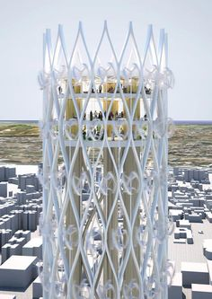 Tower of Power turns sustainable technology into beauty / NL Architects >> By combining the two typologies, windmill and observation tower, the project aspires to affect the content of the new generation of tourist towers and at the same time alter the appearance of future wind energy generators. ...