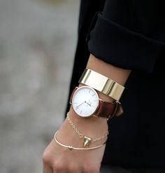 Stacking bracelets has been a trend for a while, so why not try throwing a watch into the mix?  In a world of smartphones, it's certainly unexpected.