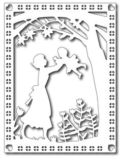 Frantic Stamper - Precision Dies - Mother & Child Card Panel-What a quick and easy way to make a card honoring any mother! This die is sure to create some gorgeous cards!Cutting Die - Mother and Child-Approximate size: 5 x Frantic Stamper Precision D Diy Paper, Paper Art, Paper Crafts, Tissue Paper, Diy Crafts, Sleepover Crafts, Paper Cutting Patterns, Frantic Stamper, Scroll Saw Patterns