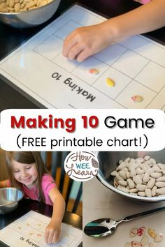 Get your FREE making 10 chart here and learn this fun pumpkin seed math game for kids! This blog post is all about how to make ten and why it is an important math concept for preschoolers and kindergarten aged children to grasp! Educational Activities For Preschoolers, Preschool Math Games, Math Games For Kids, Preschool Activities, Number Activities, Pumpkin Seed Activities, Pumpkins For Sale, Making Ten, Kindergarten Age
