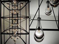 concept for open to above/below | Plug: Alison Berger: Commissioned Rain Chandelier