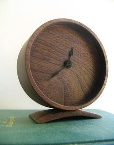 wooden walnut clock | off cut studio