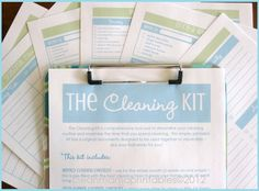 ALL NEW!  The CLEANING Kit  - Clean Mama Printables