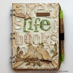 Design team member Anna-Karin Evaldsson shared a great tutorial on our blog demonstrating how she remade a notebook and gave it new life with dies by @Tim Holtz and Dena Designs.  Find the tutorial on our blog: http://sizzixblog.blogspot.com/2012/07/altered-notebook.html