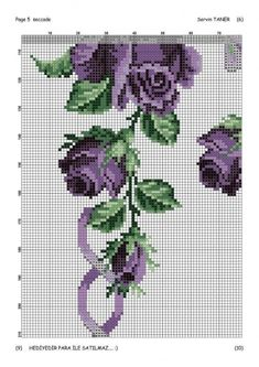 Name: Displayed times: 250 Size: KB (Kilobyte) Cross Stitch Rose, Cross Stitch Flowers, Cross Stitch Charts, Cross Stitch Patterns, Cross Stitching, Cross Stitch Embroidery, African Flowers, Fair Isle Pattern, Purple Roses