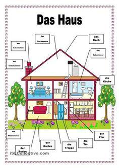 Teile des Hauses - DAF Arbeitsblätter