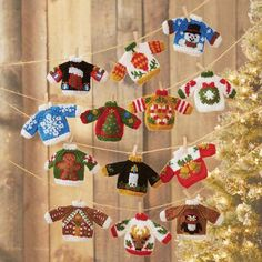 Ugly Sweater Knit Ornaments