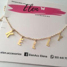 Cadenas personalizadas con tu nombre o las letras que quieras #accesoriosbarranquilla #cadenasletras #golfi #bronce #moda #accesorioschic #colombiaaccesorios #modamujer #barranquillapagocontraentrega
