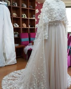 No automatic alt text available. Muslim Wedding Gown, Wedding Robe, Muslimah Wedding Dress, Muslim Wedding Dresses, Dream Wedding Dresses, Bridal Dresses, Wedding Gowns, Prom Dresses, Muslim Brides