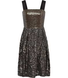 Two Tone Embellished Dress