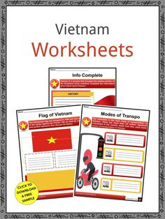 This is a fantastic bundle which includes everything you need to know about the Vietnam across 19 in-depth pages. These are ready-to-use Vietnam worksheets that are perfect for teaching students about the Vietnam, officially the Socialist Republic of Vietnam, which is a country that occupies the eastern portion of the Southeast Asian mainland. The capital, Hanoi, is in the north, while Ho Chi Minh City (formerly Saigon), the country's largest city, is in the south. Geography Worksheets, Worksheets For Kids, Speak Language, Geography For Kids, Mahayana Buddhism, Facts For Kids, Fifth Grade, Ho Chi Minh City, Hanoi