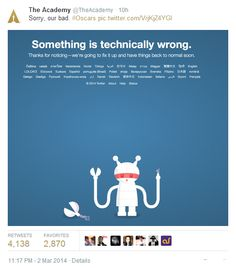 #Oscars2014 is all over social media today and @The Academy had to tweet this.