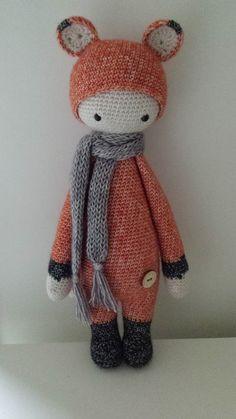 FIBI the fox made by Els van Sch. / crochet pattern by lalylala
