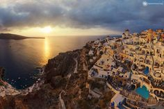 Santorini is an island located in the South Aegean Sea. Today Santorini is one of the most famous tourist centers in the world.