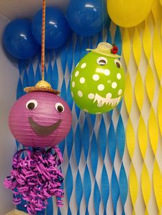 Henry the octopus and Dorothy the dinosaur birthday themed party