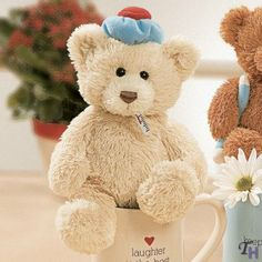 """Gund Feel Better 9"""" Bear With Thermometer Plush"""