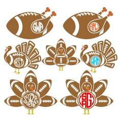 Turkey Football with Monogram Frames Cuttable Design Cut File. Vector, Clipart, Digital Scrapbooking Download, Available in JPEG, PDF, EPS, DXF and SVG. Works with Cricut, Design Space, Sure Cuts A Lot, Make the Cut!, Inkscape, CorelDraw, Adobe Illustrator, Silhouette Cameo, Brother ScanNCut and other compatible software.