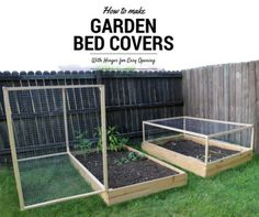 Protective Hinged Raised Garden Bed Cover Project