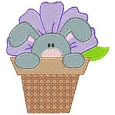 Embroidery Design Set - Flower Friends 3