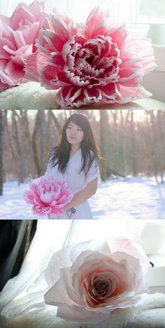 Wedding flowers, Wedding bouquet for spring fall summer winter, giant paper flowers, wedding ideas, blush wedding pallet #wedding