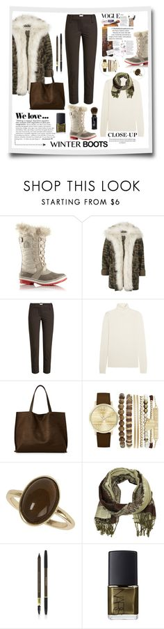 """""""Winter Boots"""" by terry-tlc ❤ liked on Polyvore featuring SOREL, River Island, Brunello Cucinelli, Chloé, Street Level, Jessica Carlyle, Dorothy Perkins, Zara, Cozy by LuLu and Yves Saint Laurent"""