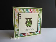 Stampin' Up! Birthday Basics - Owl Punch - Just Spiffing by Fiona Bradley