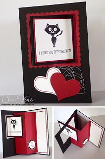 Sue Vine | Stampin' Up! | MissPinksCraftSpot | Valentines| Love | Handmade Card | You Little Furball |  #stampinup #love #valentines #youlittlefurball #gdp019