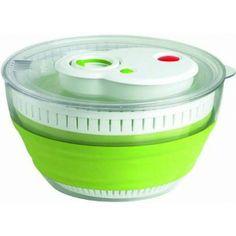 Wir lieben Salat - perfekte Vorbereitung leicht gemacht! Die erste Salatschleuder mit TURBO Salad Spinner, Folded Up, Kitchen Hacks, Kitchen Appliances, Entertaining, Utensils, Gadgets, Amazon, Products
