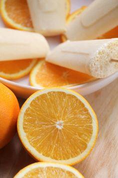 Sinaasappel yoghurt ijsjes