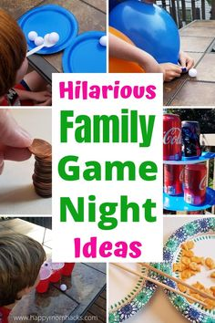 Easy Party Games, Family Party Games, Christmas Party Games, Diy Games, Best Family Games, Games For Parties, One Minute Party Games, Home Party Games, Childrens Party Games